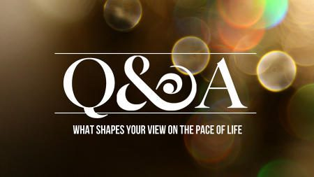 Q & A – Sabbath / Question 1