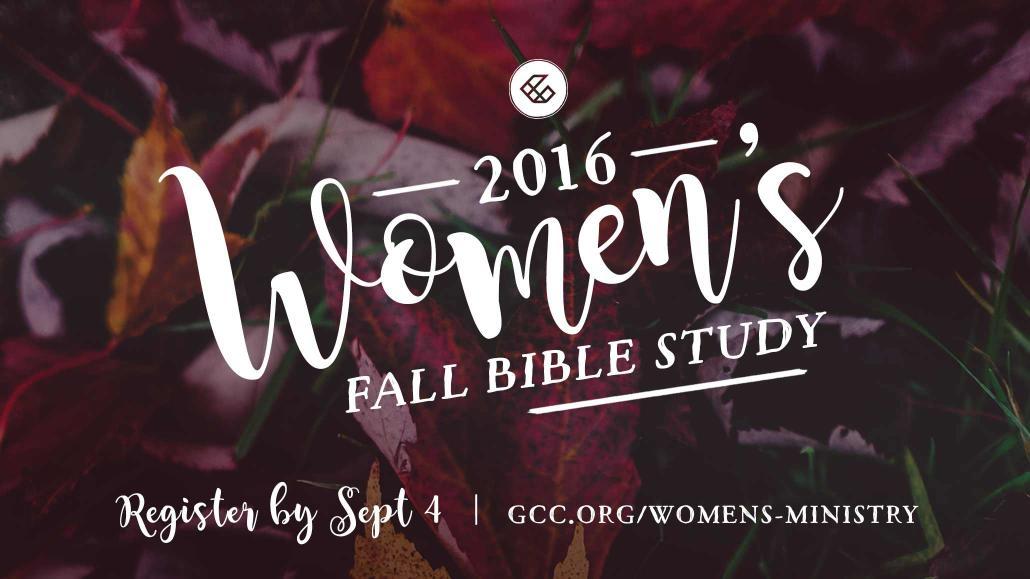 Fall Women's Bible Study