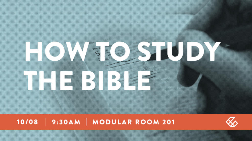 How to study the Bible class