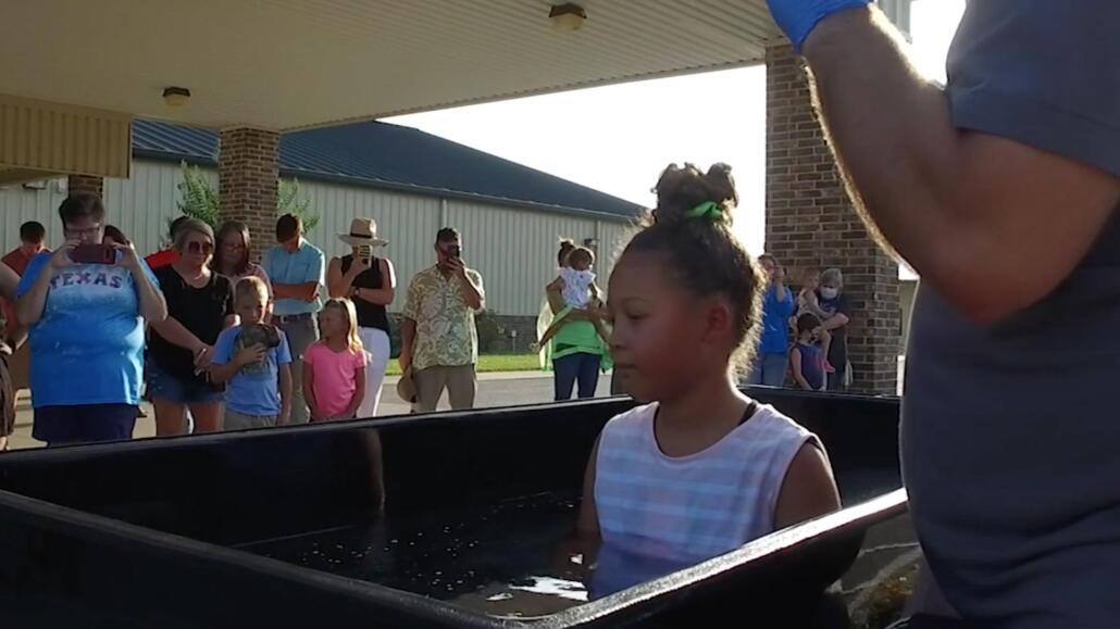 Baptism of Laila Mae, July 1st, 7pm