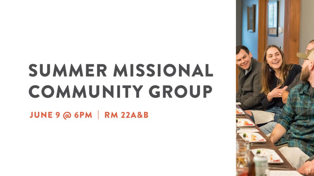 Summer Missional Community Group